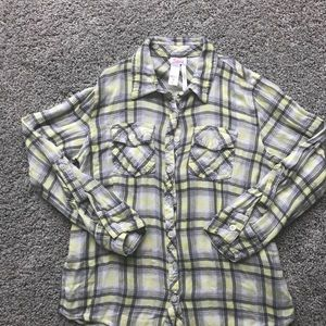 EUC Justice Long Sleeve Flannel Shirt